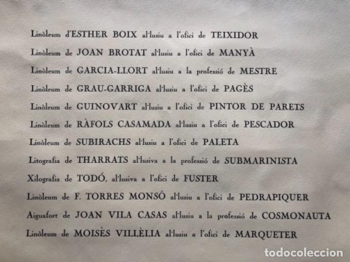 Arte: CALENDARIO 1966 LITOGRAFIAS 12 ARTISTAS CATALANES, SUBIRATS, GUINOVART, RÀFOLS CASAAMADA - Foto 28 - 161198314