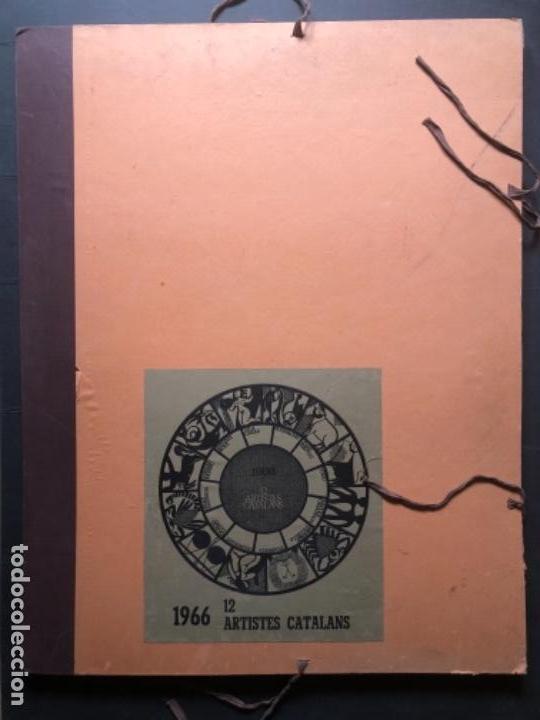 CALENDARIO 1966 LITOGRAFIAS 12 ARTISTAS CATALANES, SUBIRATS, GUINOVART, RÀFOLS CASAAMADA (Arte - Arte Religioso - Litografías)