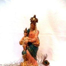 Arte: ANTIGUA VIRGEN MARÍA CON NIÑO, 47'5 CM, NOTRE-DAME DES VICTOIRES, VIRGEN FRANCESA XIX, ESCAYOLA. Lote 161250634