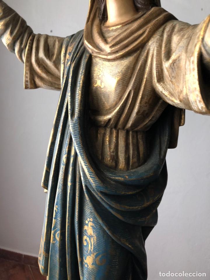 Arte: Virgen milagrosa talla madera policromada - Foto 4 - 161255265