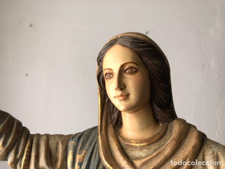 Arte: Virgen milagrosa talla madera policromada - Foto 5 - 161255265