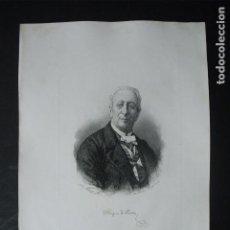 Arte: 1881 DUQUE DE RIVAS POR BARTOLOMÉ MAURA. Lote 161290602