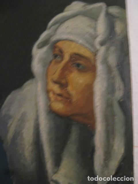 Arte: OLEO TABLA JUDITH CON LA CABEZA DE HOLOFERNES DE CRISTOFANO ALLORI MAGISTRAL RÉPLICA S.XX 45 X 38 CM - Foto 5 - 161347258