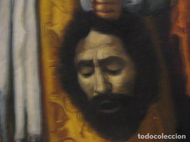 Arte: OLEO TABLA JUDITH CON LA CABEZA DE HOLOFERNES DE CRISTOFANO ALLORI MAGISTRAL RÉPLICA S.XX 45 X 38 CM - Foto 6 - 161347258