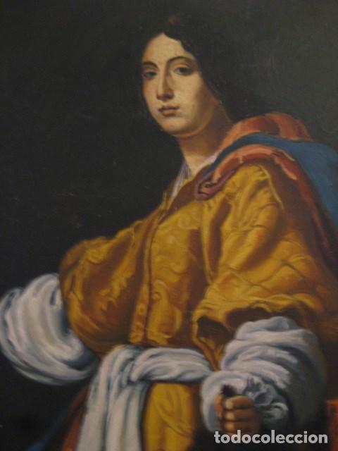 Arte: OLEO TABLA JUDITH CON LA CABEZA DE HOLOFERNES DE CRISTOFANO ALLORI MAGISTRAL RÉPLICA S.XX 45 X 38 CM - Foto 7 - 161347258