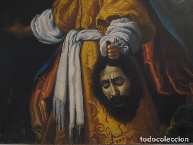 Arte: OLEO TABLA JUDITH CON LA CABEZA DE HOLOFERNES DE CRISTOFANO ALLORI MAGISTRAL RÉPLICA S.XX 45 X 38 CM - Foto 8 - 161347258