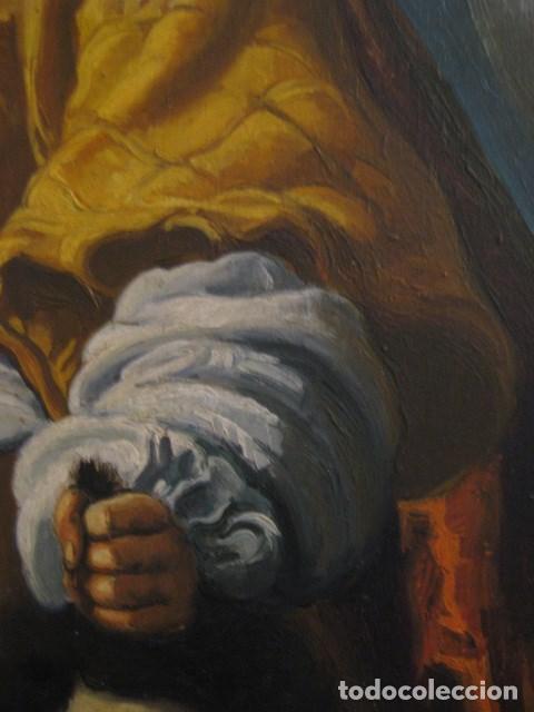 Arte: OLEO TABLA JUDITH CON LA CABEZA DE HOLOFERNES DE CRISTOFANO ALLORI MAGISTRAL RÉPLICA S.XX 45 X 38 CM - Foto 9 - 161347258