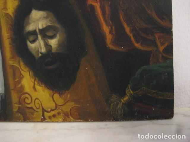 Arte: OLEO TABLA JUDITH CON LA CABEZA DE HOLOFERNES DE CRISTOFANO ALLORI MAGISTRAL RÉPLICA S.XX 45 X 38 CM - Foto 10 - 161347258