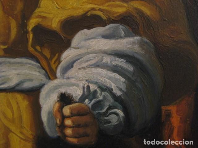 Arte: OLEO TABLA JUDITH CON LA CABEZA DE HOLOFERNES DE CRISTOFANO ALLORI MAGISTRAL RÉPLICA S.XX 45 X 38 CM - Foto 14 - 161347258