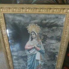 Arte: MAGESTUOSO Y ANTIGUO CUADRO DE LA VIRGEN DE LOS DOLORES.SIGLO XX.AÑO 1931.PRECIOSO.. Lote 161443569