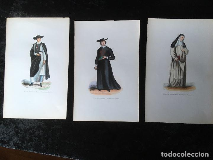 1851 - 3 GRABADOS ILUMINADOS - CRUZADO - HOSPITALARIO DE BURGOS - RELIGIOSA DE SANTO (Arte - Arte Religioso - Grabados)