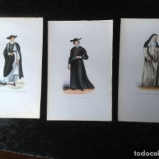 Arte: 1851 - 3 GRABADOS ILUMINADOS - CRUZADO - HOSPITALARIO DE BURGOS - RELIGIOSA DE SANTO. Lote 161471350