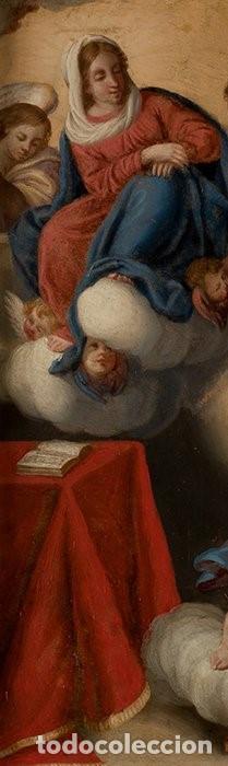 Arte: La visión de San Antonio. Óleo sobre cobre. Siglo XVIII. - Foto 8 - 161482558