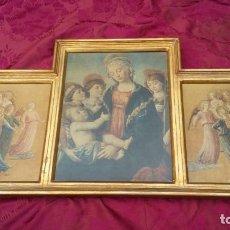 Art: TRIPTICO IMÁGENES RELIGIOSAS.. Lote 161549174