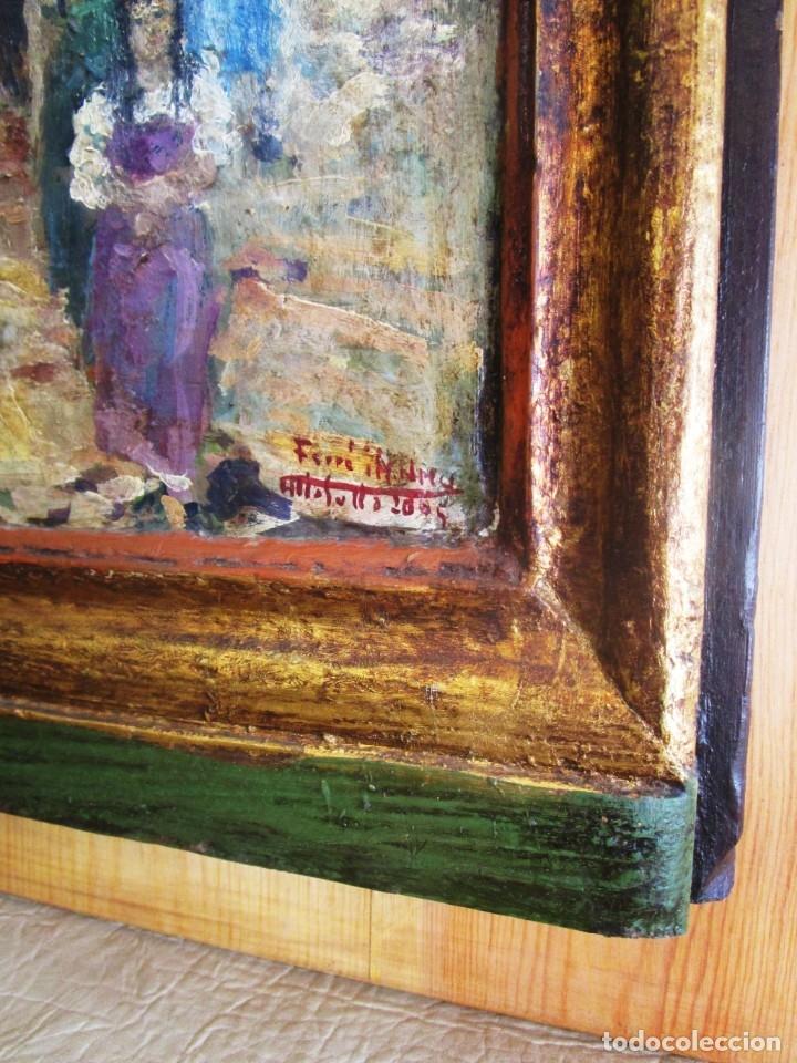 Arte: antiguo retablo con oleo de ferre i andreu año 2005 altafulla ermita sant antoni - Foto 5 - 35171291