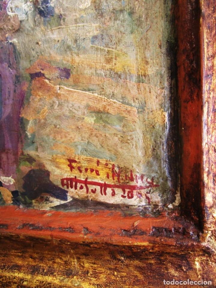 Arte: antiguo retablo con oleo de ferre i andreu año 2005 altafulla ermita sant antoni - Foto 6 - 35171291