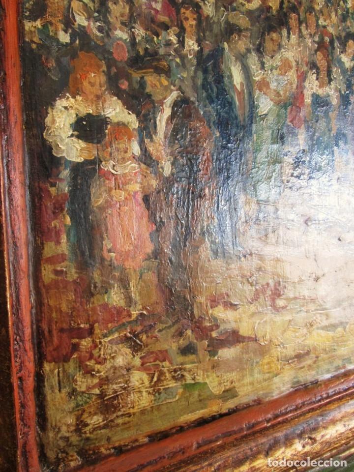 Arte: antiguo retablo con oleo de ferre i andreu año 2005 altafulla ermita sant antoni - Foto 7 - 35171291