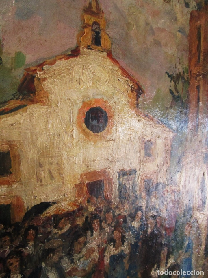 Arte: antiguo retablo con oleo de ferre i andreu año 2005 altafulla ermita sant antoni - Foto 8 - 35171291