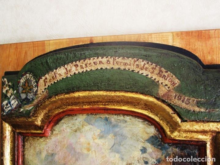 Arte: antiguo retablo con oleo de ferre i andreu año 2005 altafulla ermita sant antoni - Foto 9 - 35171291