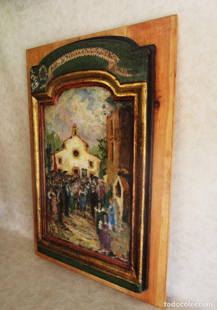 Arte: antiguo retablo con oleo de ferre i andreu año 2005 altafulla ermita sant antoni - Foto 10 - 35171291
