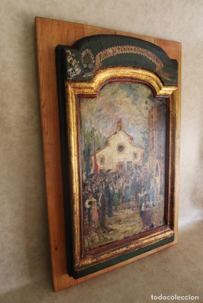 Arte: antiguo retablo con oleo de ferre i andreu año 2005 altafulla ermita sant antoni - Foto 11 - 35171291