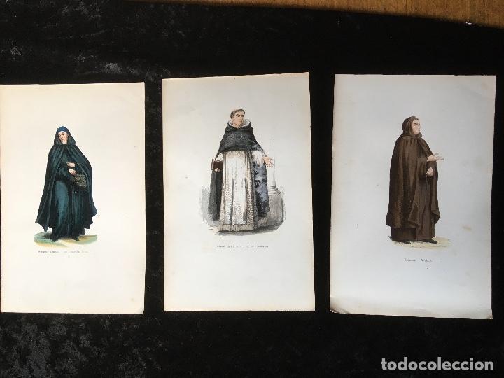 1851 - 3 GRABADOS COLOR - RELIGIOSA ARMENIA - RELIGIOSO DE SANTO DOMINGO - MINIMO - TRAJES (Arte - Arte Religioso - Grabados)