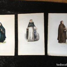 Arte: 1851 - 3 GRABADOS COLOR - RELIGIOSA ARMENIA - RELIGIOSO DE SANTO DOMINGO - MINIMO - TRAJES. Lote 161578298