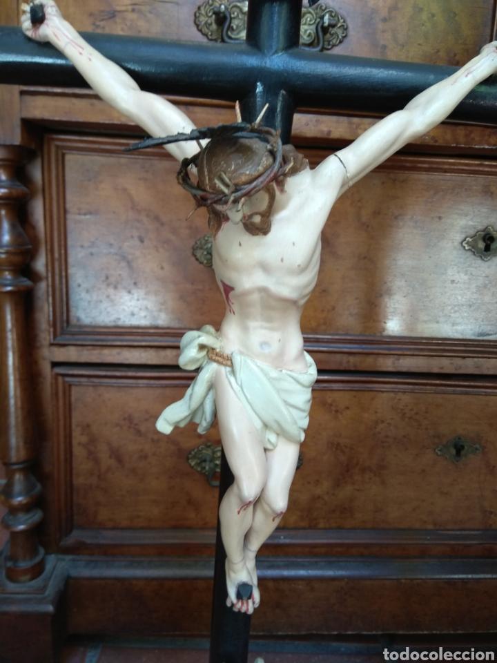 Arte: Cristo el la Cruz - Madera Policromada - - Foto 4 - 161839192