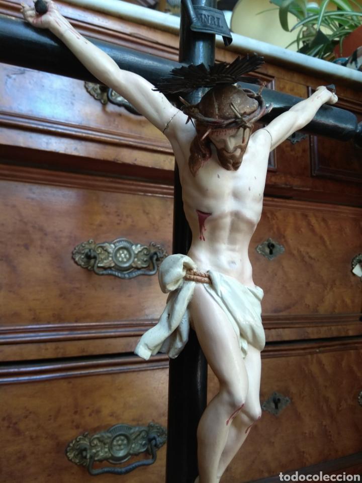 Arte: Cristo el la Cruz - Madera Policromada - - Foto 5 - 161839192