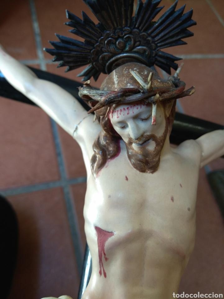 Arte: Cristo el la Cruz - Madera Policromada - - Foto 18 - 161839192