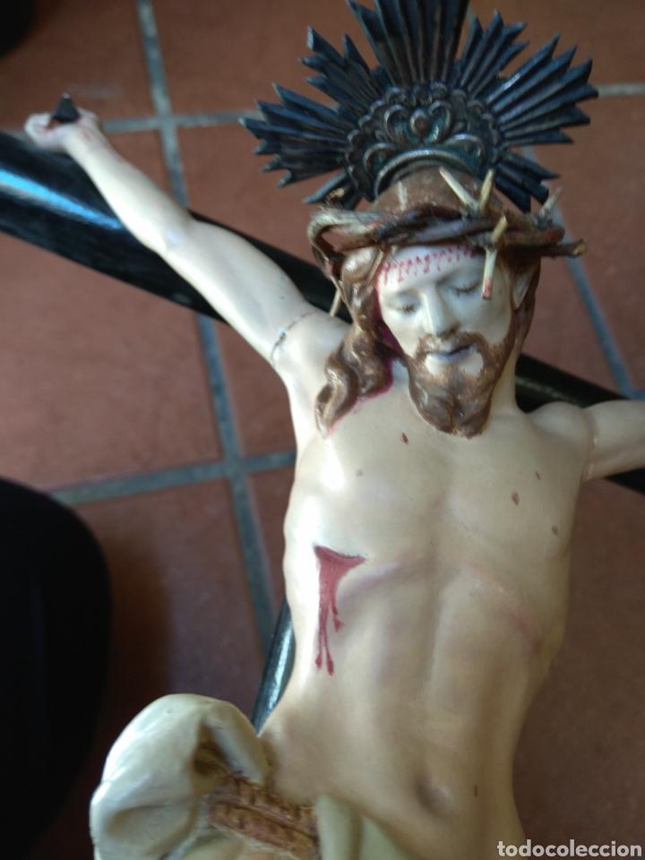 Arte: Cristo el la Cruz - Madera Policromada - - Foto 19 - 161839192