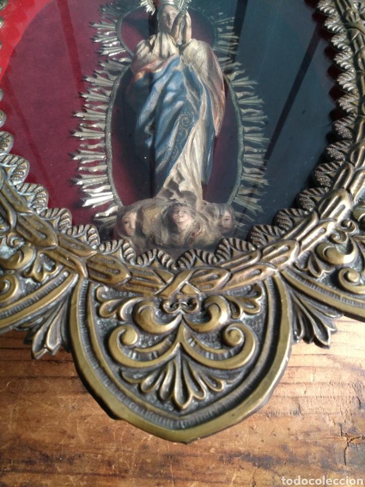 Arte: Inmaculada en madera tallada policromada - Foto 4 - 161893014