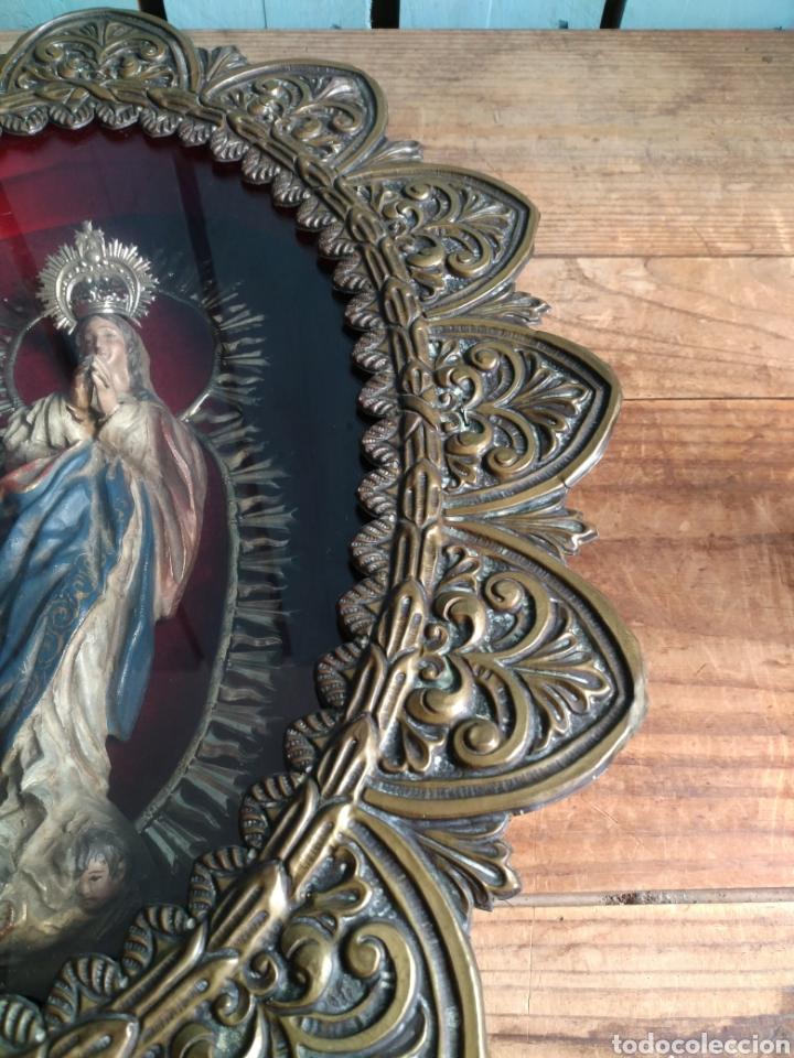 Arte: Inmaculada en madera tallada policromada - Foto 5 - 161893014