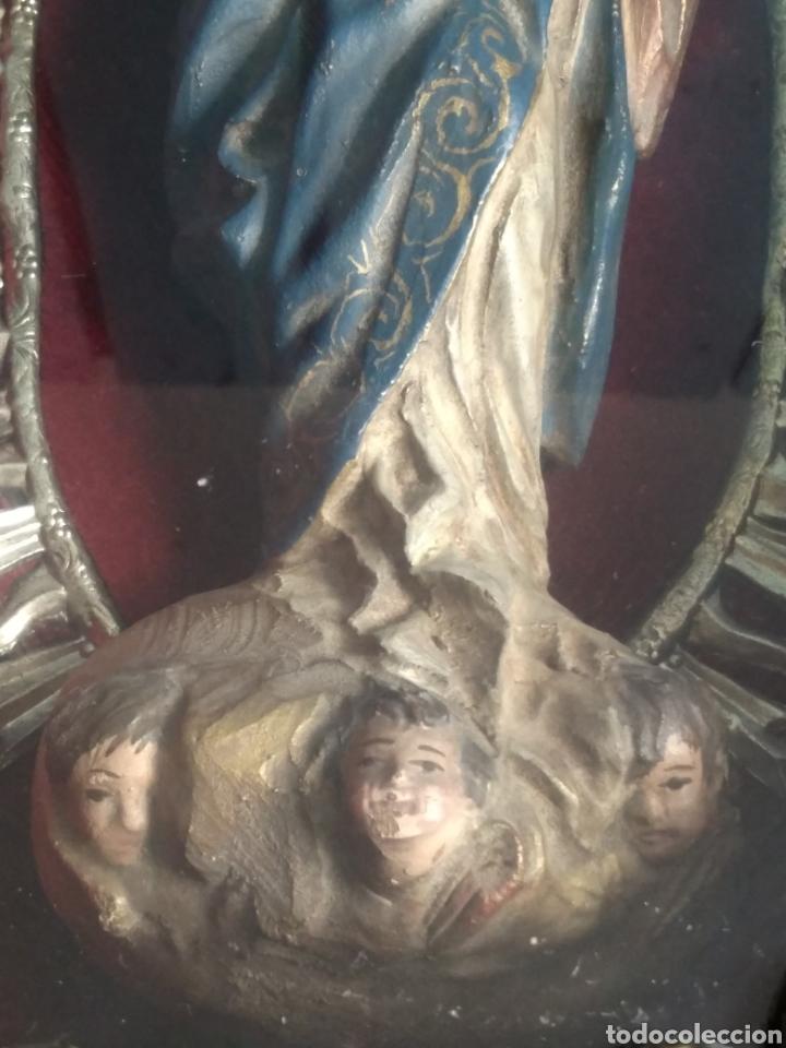 Arte: Inmaculada en madera tallada policromada - Foto 7 - 161893014