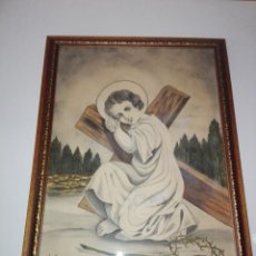 Arte: CUDRO+CRISTAL+MARCO-DIBUJO-RELIGIOSO-CLASICISTA-NIÑO JESÚS-FIRMADO L.PANTÍN-1938-GRANDE-VER FOTOS. Lote 161893910