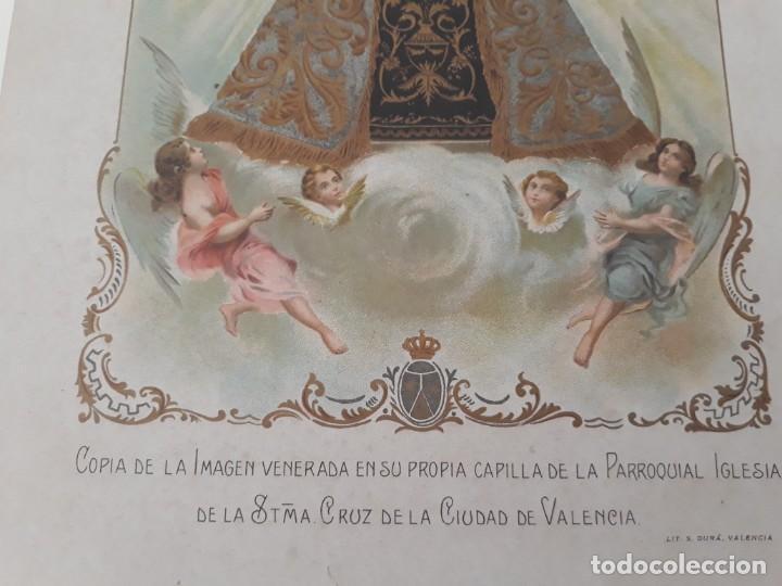 Arte: Nuestra Señora del Carmen Valencia III Centenario 1606 1906 litografía Durá Original Cofradía - Foto 5 - 161911030