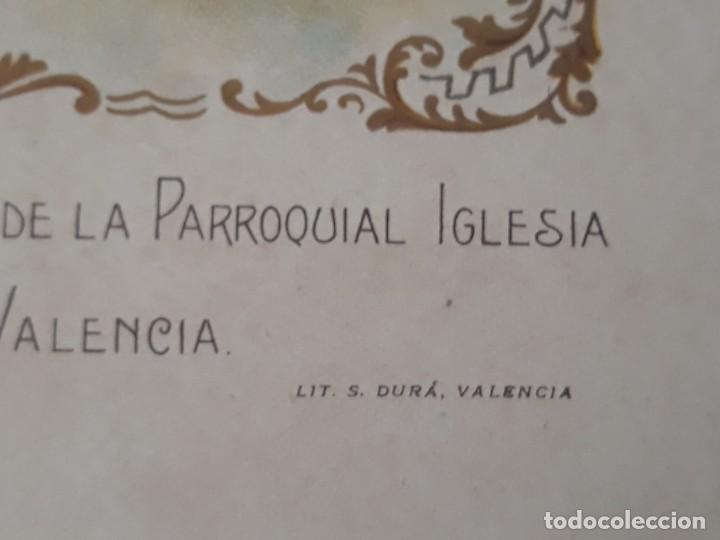 Arte: Nuestra Señora del Carmen Valencia III Centenario 1606 1906 litografía Durá Original Cofradía - Foto 6 - 161911030