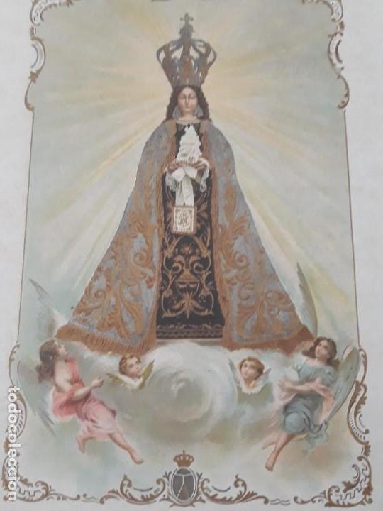 Arte: Nuestra Señora del Carmen Valencia III Centenario 1606 1906 litografía Durá Original Cofradía - Foto 7 - 161911030