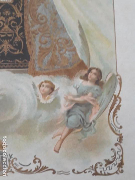 Arte: Nuestra Señora del Carmen Valencia III Centenario 1606 1906 litografía Durá Original Cofradía - Foto 8 - 161911030