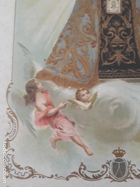 Arte: Nuestra Señora del Carmen Valencia III Centenario 1606 1906 litografía Durá Original Cofradía - Foto 9 - 161911030