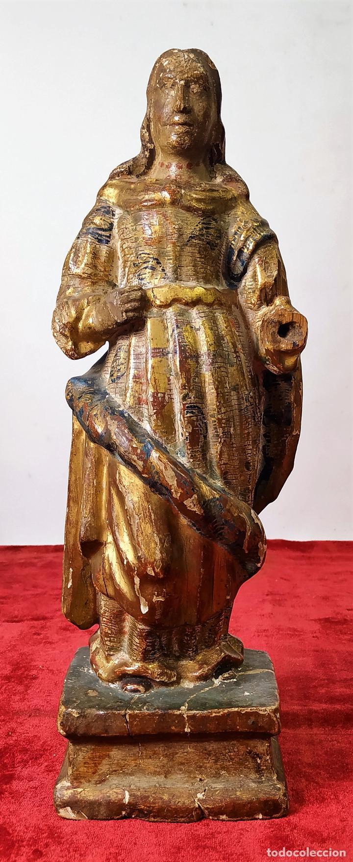 INMACULADA. ESCULTURA. MADERA TALLADA. POLICROMÍA ORIGINAL. ESPAÑA. SIGLO XVII (Arte - Arte Religioso - Escultura)
