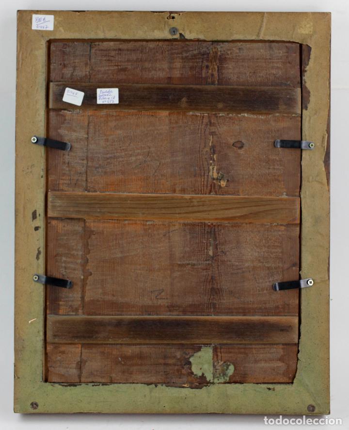 Arte: La divina pastora, escuela española siglo XVIII, pintura al óleo sobre tabla. 43x32cm - Foto 7 - 161995930