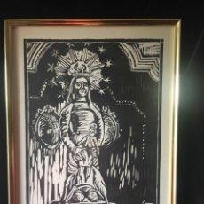 Arte: GRABADO ENMARCADO, FIRMADO Y NUMERADO DE SANTA MARÍA DE IGUALADA. Lote 162348158
