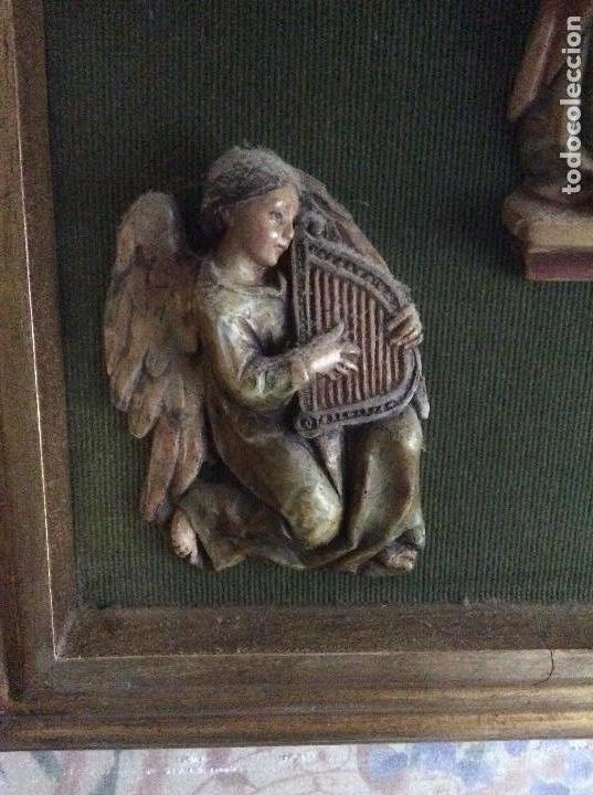 Arte: Cuadro religioso con bajo relieve en resina policromado.62cmx42 cm. - Foto 5 - 162381846
