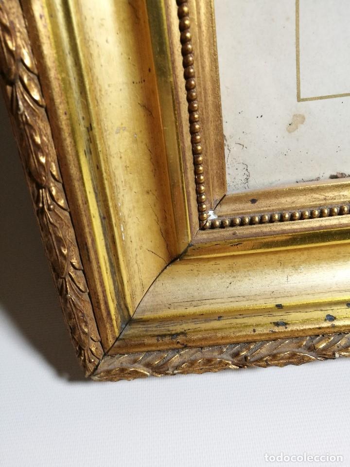 Arte: Litografía iluminada precioso marco de madera 8 enero 1897 - Reus - Ntra Sra de la Misericordia - Foto 6 - 162391166
