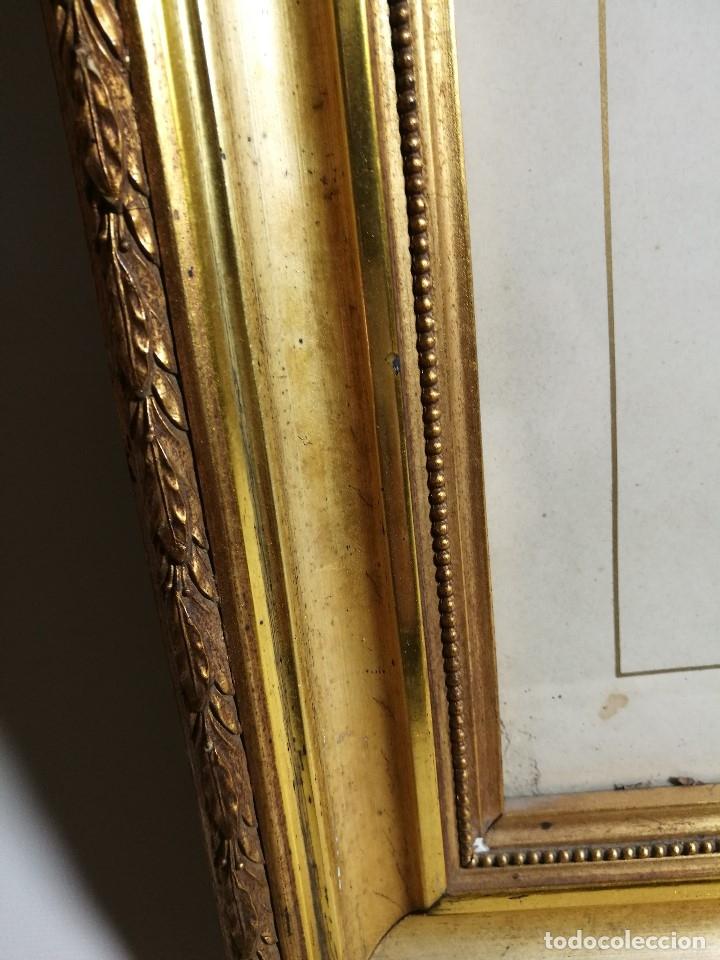 Arte: Litografía iluminada precioso marco de madera 8 enero 1897 - Reus - Ntra Sra de la Misericordia - Foto 7 - 162391166