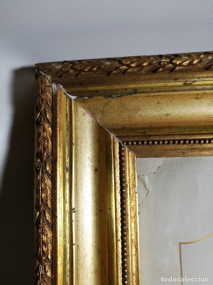Arte: Litografía iluminada precioso marco de madera 8 enero 1897 - Reus - Ntra Sra de la Misericordia - Foto 12 - 162391166