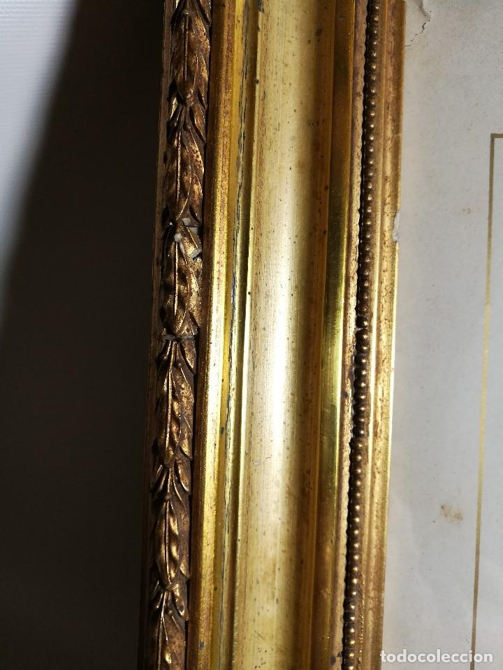 Arte: Litografía iluminada precioso marco de madera 8 enero 1897 - Reus - Ntra Sra de la Misericordia - Foto 11 - 162391166