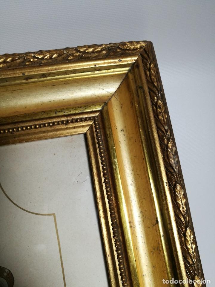 Arte: Litografía iluminada precioso marco de madera 8 enero 1897 - Reus - Ntra Sra de la Misericordia - Foto 13 - 162391166