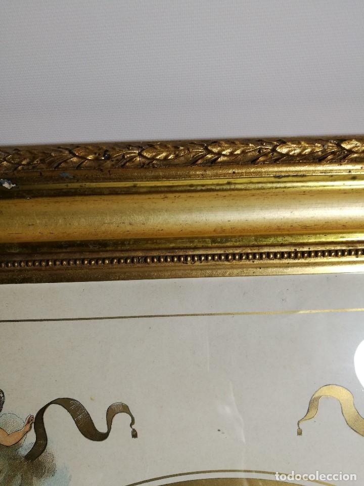 Arte: Litografía iluminada precioso marco de madera 8 enero 1897 - Reus - Ntra Sra de la Misericordia - Foto 15 - 162391166
